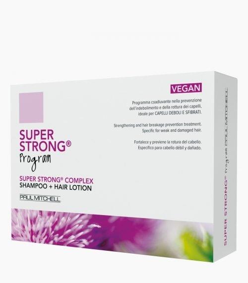 PAUL MITCHELL Super Strong Program Composto da 12 Fiale Super Strong Hair Lotion e Super Strong Shampoo 300 ml